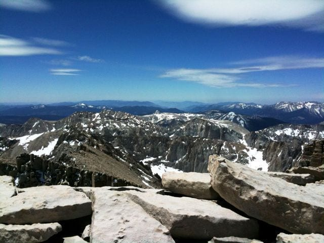 View south from the Top of Mount Whitney