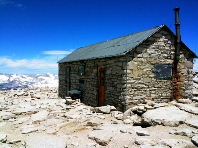Smithsonian Hut at the top of Mount Whitney