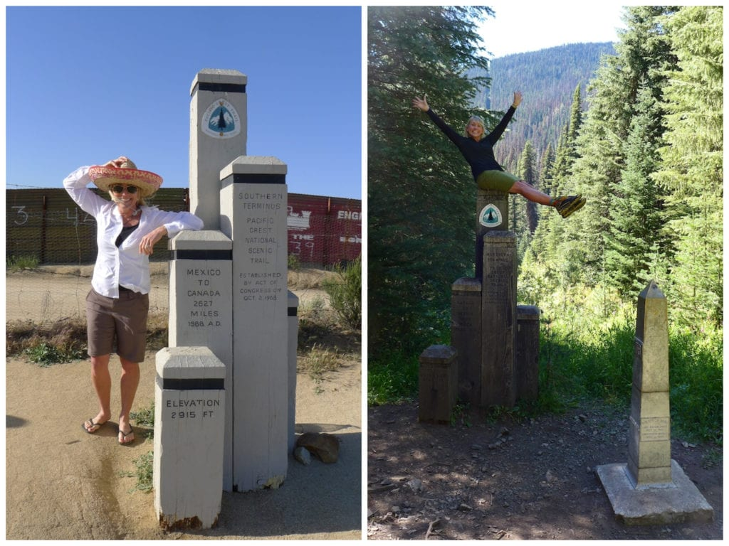 Pacific Crest Trail Southern and Northern Termini - 2011 and 2015