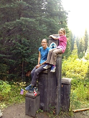 Monkey and Mamma Bear at the Northern PCT Terminus