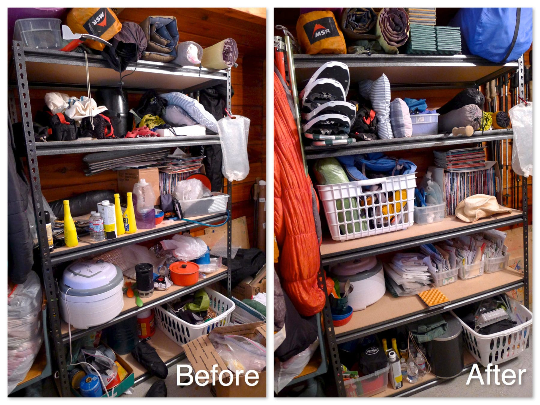 Before and After - Gear Closet