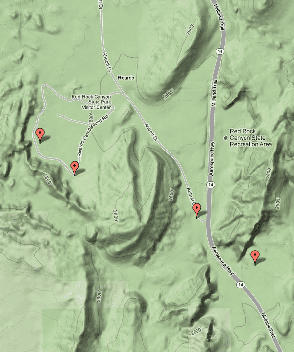 Red Rock Hiking Trails on Google Maps