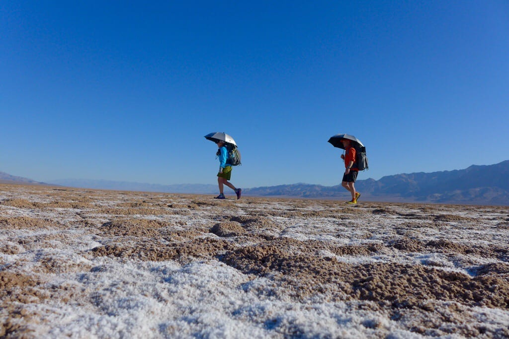 Crossing Badwater - 282 feet below sea level