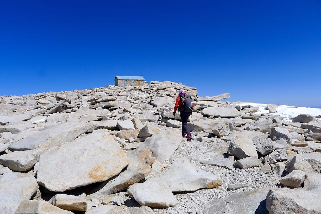 Smithsonian Shelter at the top of Mount Whitney