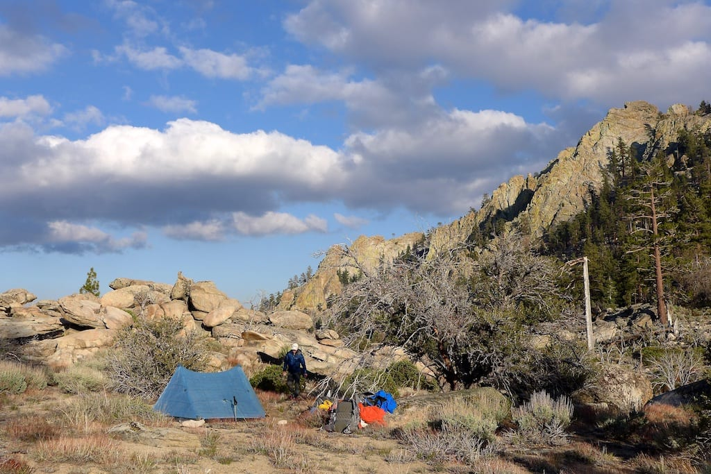 Camp 1 - Saddle Below Rockhouse Peak