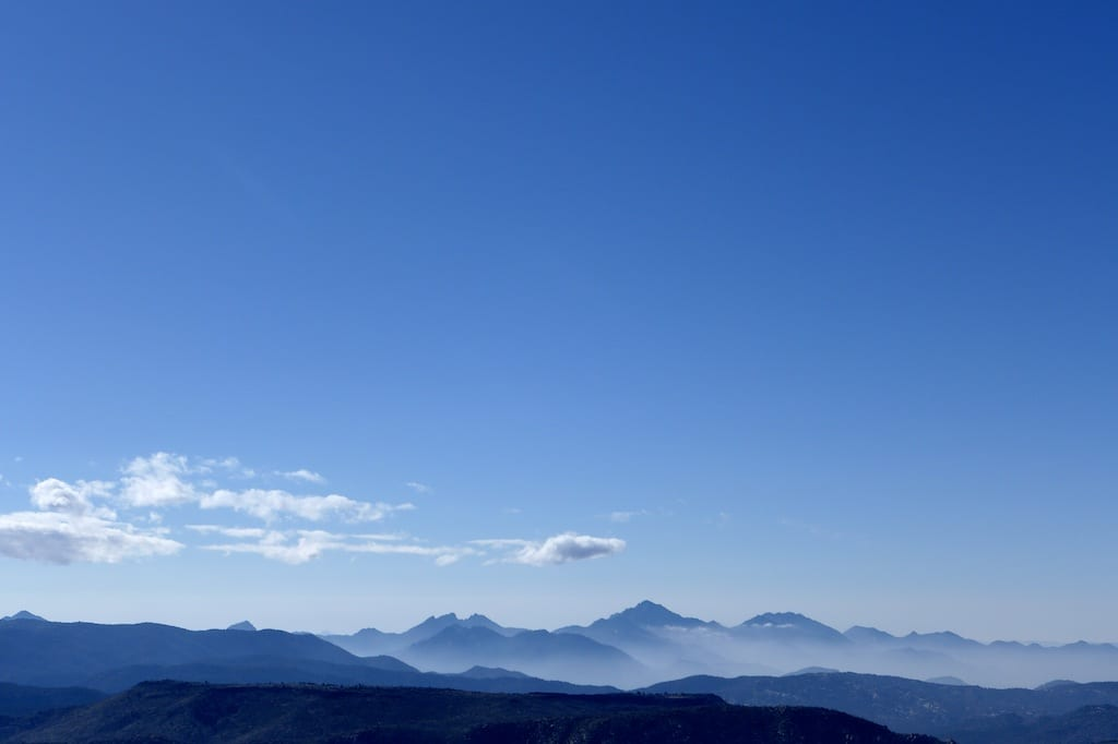 View of Owens and Jenkins Peaks from Rockhouse Peak Summit