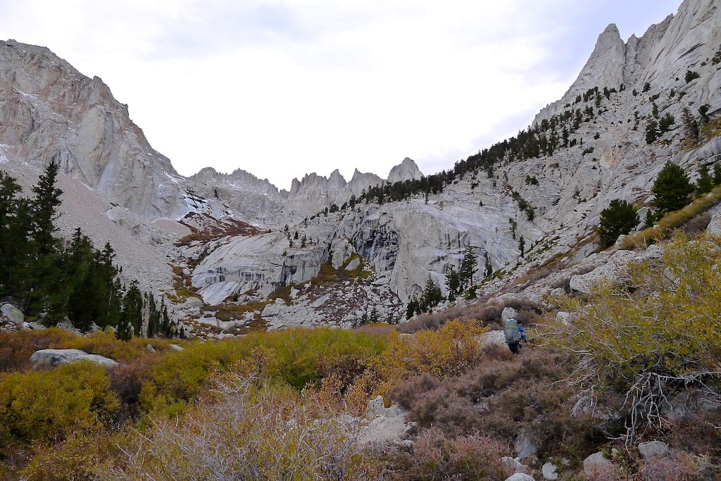 Mount Whitney (distant right) from Lower Boy Scout Lake