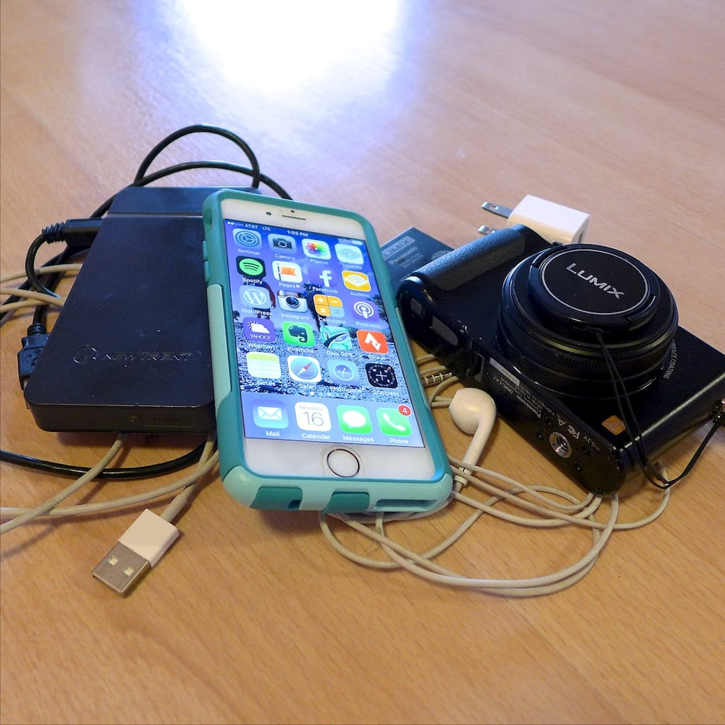 ELECTRONICS: camera, phone, earbuds, charger, iPhone, earbuds, cords