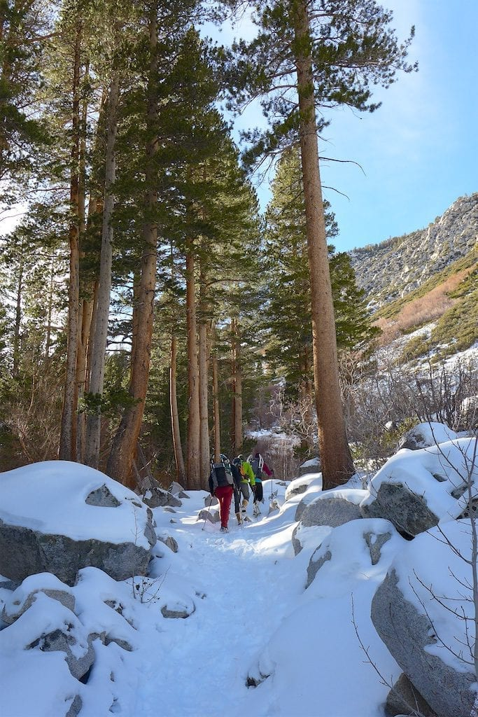 Beginning of the hike - North Fork Big PIne Creek Trail