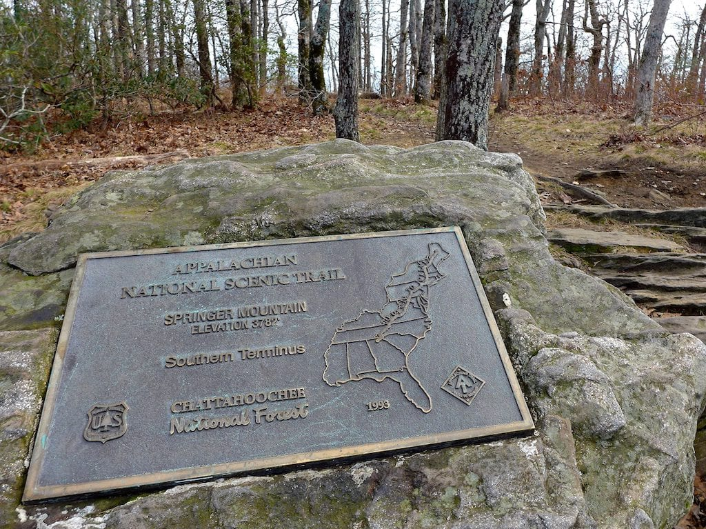 Top of Springer Mountain - Southern terminus of the AT