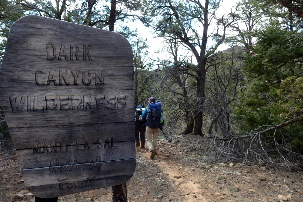 Entering Dark Canyon Wilderness