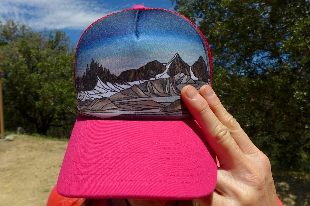 Hey! I climbed these peaks. ~Hat by Ann Piersall
