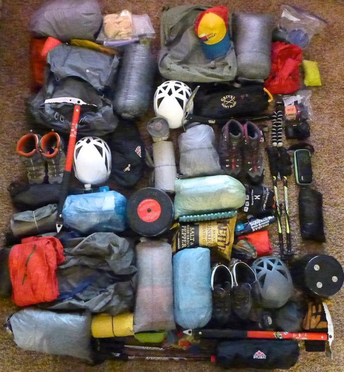 Gear for Mount Ritter and Banner Peak