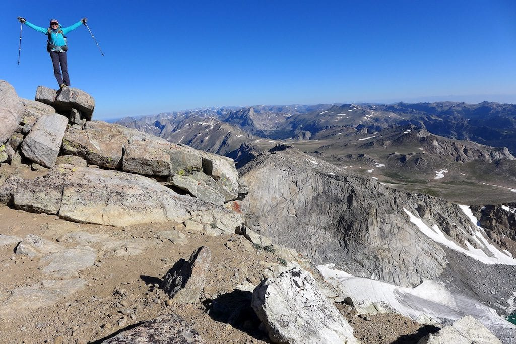 Rockin' on the summit of Wind River Peak