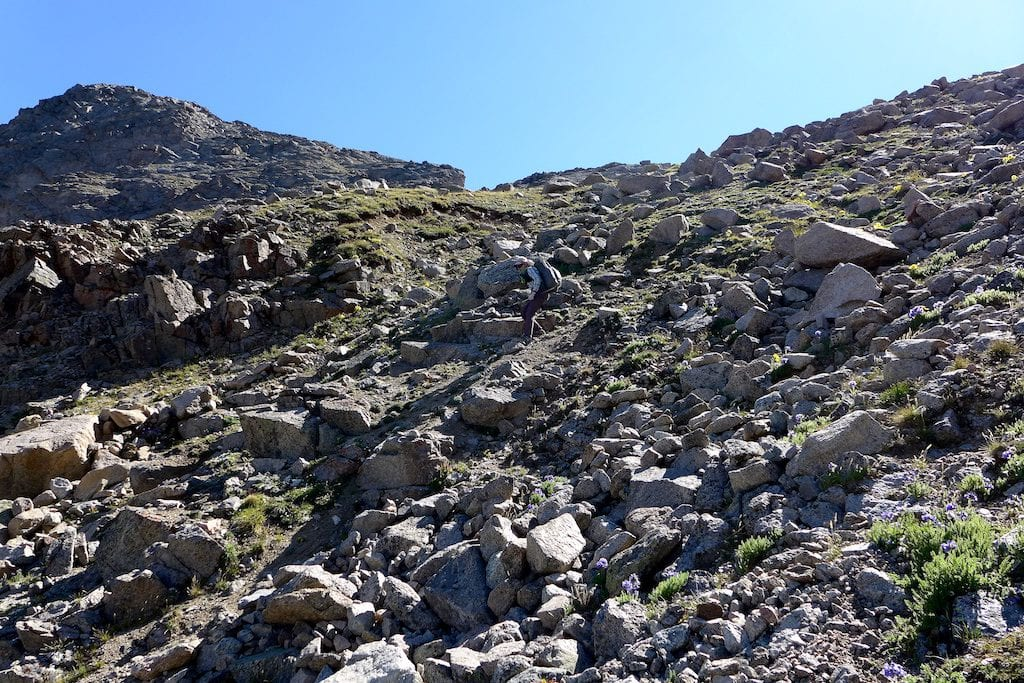 Why Not descending the loose talus