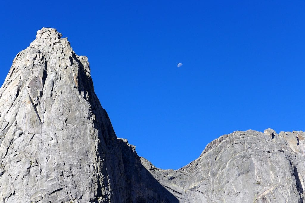 Famous Pingora Peak ~ look closely and there are climbers on the face!