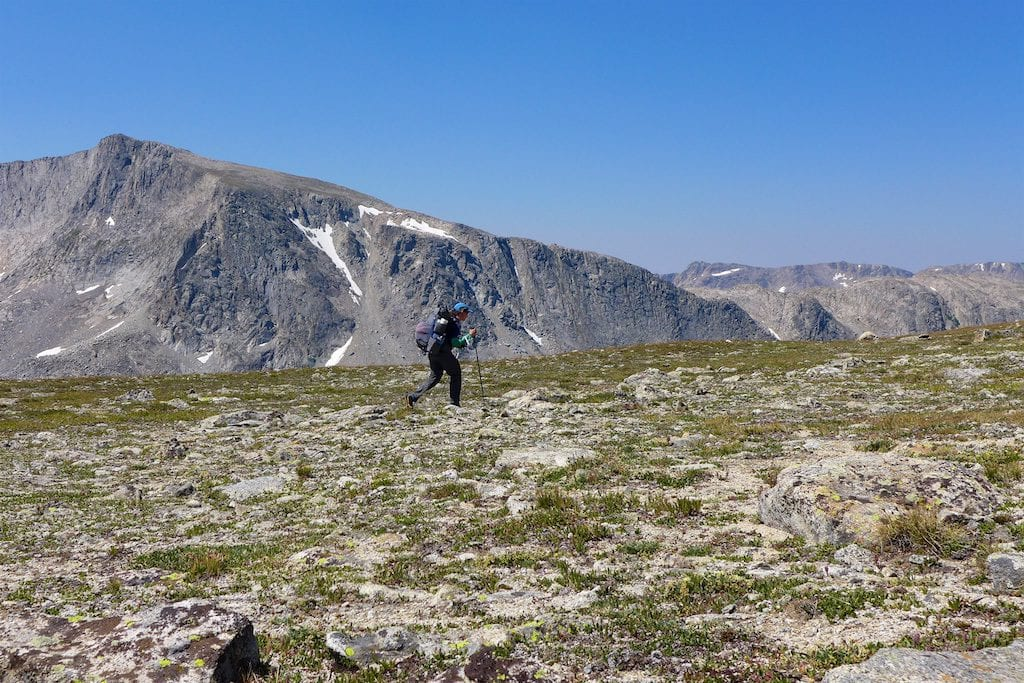 This is what I came for... hiking on the Continental Divide alpine tundra