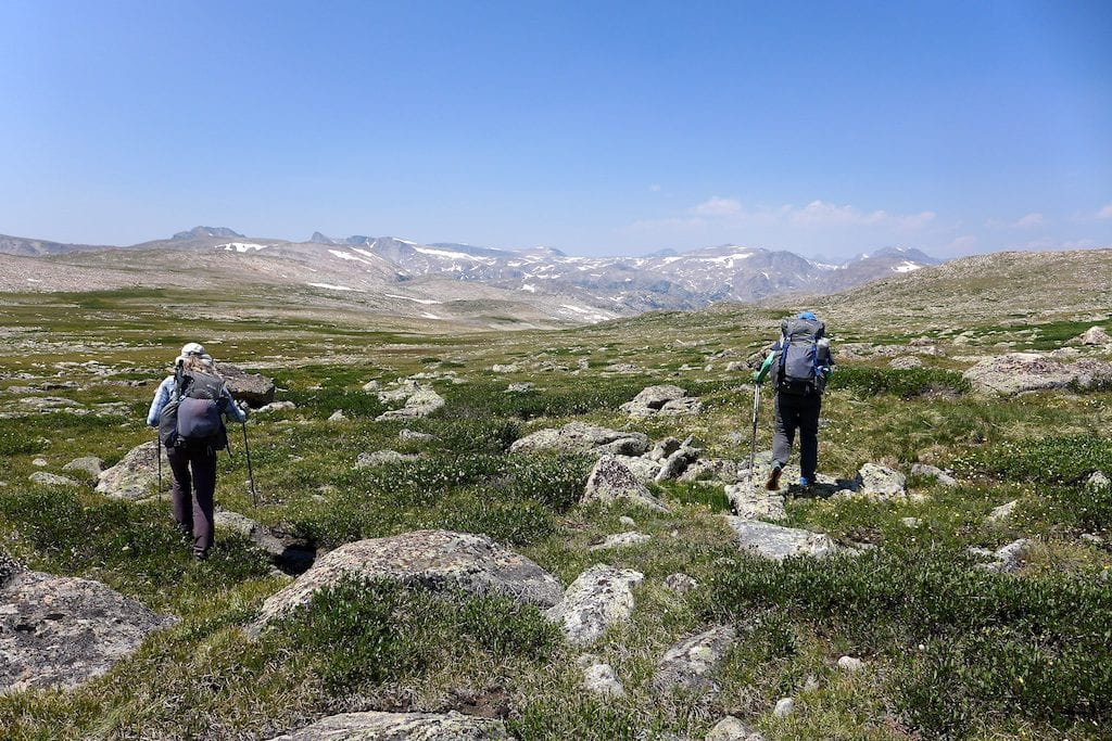 Up on the divide and alpine tundra