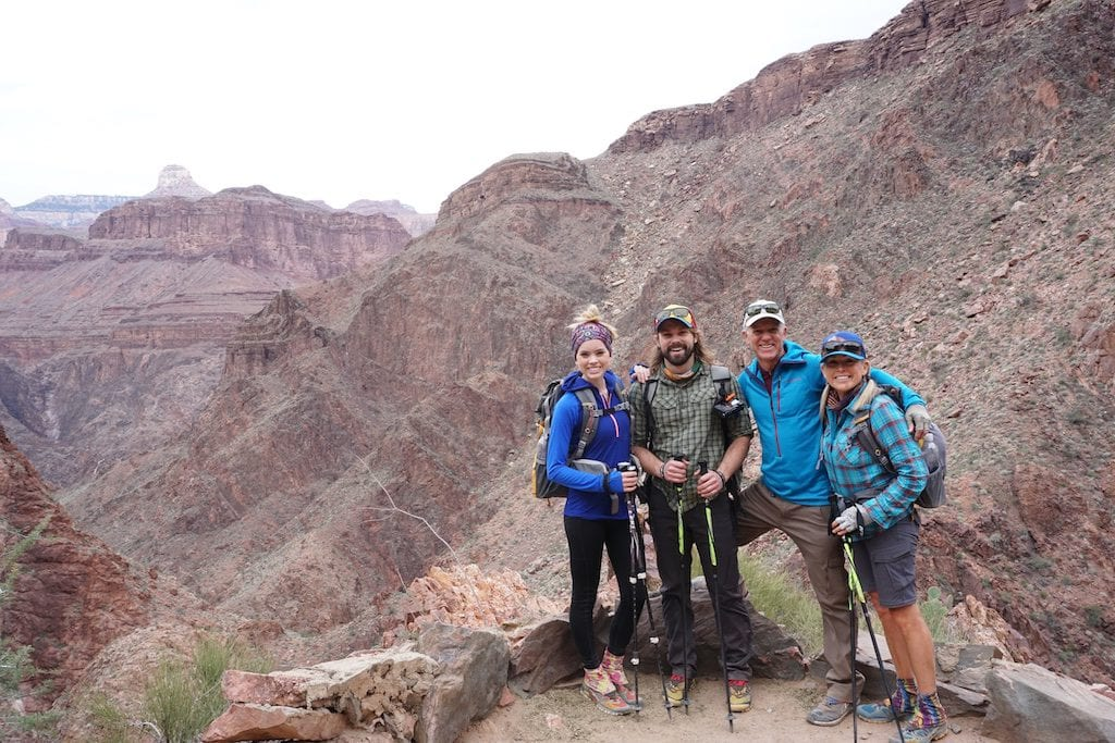 Heading up the Bright Angel Trail