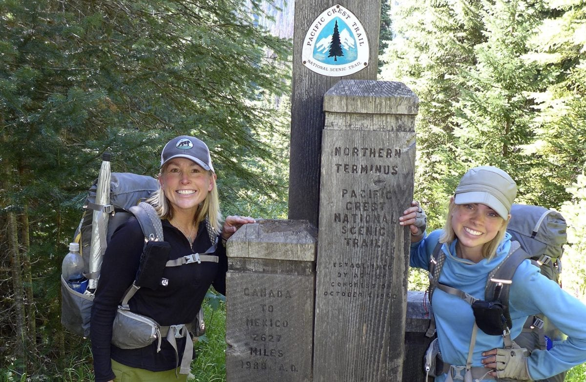 Washington/Canadian northern terminus of the Pacific Crest Trail